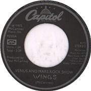 "Paul McCartney and Wings Venus And Mars Rock Show USA 7"" vinyl"