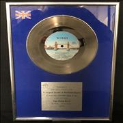 Paul McCartney and Wings With A Little Luck - BPI UK award disc