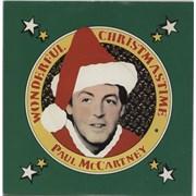"Paul McCartney and Wings Wonderful Christmastime Sweden 7"" vinyl"