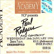 Click here for more info about 'Paul Rodgers - Manchester Academy'