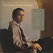 Paul Simon Greatest Hits, Etc. - Tracklisting Sticker UK vinyl LP