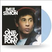Paul Simon One Trick Pony - NAD 2020 - Light Blue Vinyl UK vinyl LP