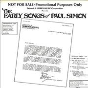 Click here for more info about 'Paul Simon - The Early Songs Of Paul Simon'