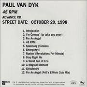 Click here for more info about 'Paul Van Dyk - 45 RPM'