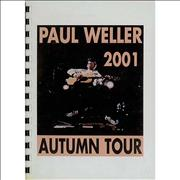 Click here for more info about 'Paul Weller - 2001 Autumn Tour Itinerary'