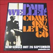 Paul Weller Come On / Let's Go UK poster