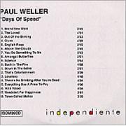 Paul Weller Days Of Speed UK CD-R acetate Promo