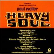 Paul Weller Heavy Soul USA CD album Promo