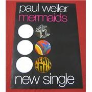 Paul Weller Mermaids UK poster Promo
