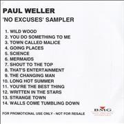 Click here for more info about 'Paul Weller - 'No Excuses' Sampler'