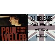 Paul Weller Quantity of 8 Japanese Display Flats Japan display Promo