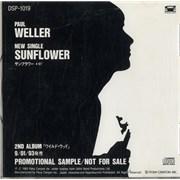 Paul Weller Sunflower Japan CD single Promo