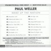 Paul Weller Wake Up The Nation USA CD album Promo