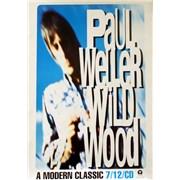 Paul Weller Wildwood UK poster Promo