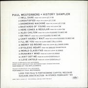 Click here for more info about 'Paul Westerberg - History Sampler'