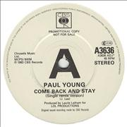 Click here for more info about 'Paul Young - Come Back & Stay'