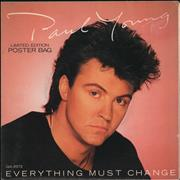 Click here for more info about 'Paul Young - Everything Must Change - Poster Sleeve'