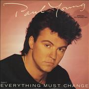 """Paul Young Everything Must Change UK 12"""" vinyl"""