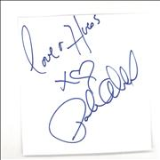 Paula Abdul Autograph UK memorabilia