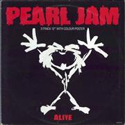 Click here for more info about 'Pearl Jam - Alive - Poster Sleeve - EX'