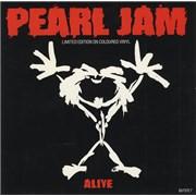 "Pearl Jam Alive - White Vinyl UK 7"" vinyl"