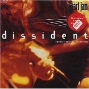 """Pearl Jam Dissident - Poster Sleeve UK 7"""" vinyl"""