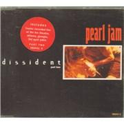 Pearl Jam Dissident Part 2 UK CD single
