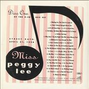 Click here for more info about 'Peggy Lee - Miss Peggy Lee'