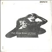 Click here for more info about 'Pet Shop Boys - 1989 Tour Itinerary & Two Access All Areas Passes'
