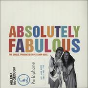 Click here for more info about 'Pet Shop Boys - Absolutely Fabulous - Withdrawn / Promo stickered'