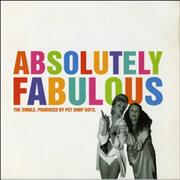 Pet Shop Boys Absolutely Fabulous UK CD single