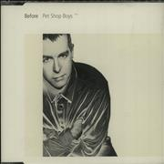 Click here for more info about 'Pet Shop Boys - Before - CD1'