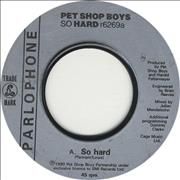 Click here for more info about 'Pet Shop Boys - So Hard - Jukebox Issue'