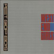 Click here for more info about 'Pet Shop Boys - West End Girls - Small Pic Label'