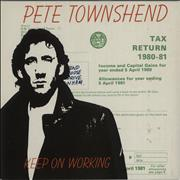 Click here for more info about 'Pete Townshend - Keep On Working'