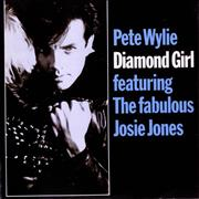 Click here for more info about 'Pete Wylie - Diamond Girl - Blue Title Sleeve'