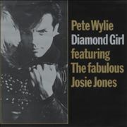 Click here for more info about 'Pete Wylie - Diamond Girl - Gold Title Sleeve'