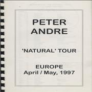 Click here for more info about 'Peter Andre - Natural Tour - April/May 1997 Tour Itinerary'