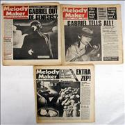 Click here for more info about 'Peter Gabriel - 3 Issues of Melody Maker'