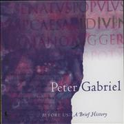 Click here for more info about 'Peter Gabriel - Before Us A Brief History'