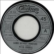 "Peter Gabriel Games Without Frontiers - Jukebox UK 7"" vinyl"
