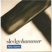 "Peter Gabriel Sledgehammer UK 7"" vinyl"