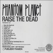 Click here for more info about 'Phantom Planet - Raise The Dead'