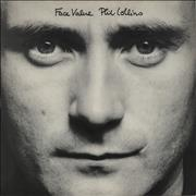 Phil Collins Face Value - Textured sleeve UK vinyl LP