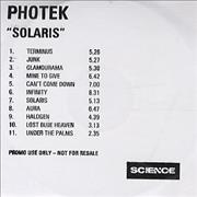 Click here for more info about 'Photek - Solaris'