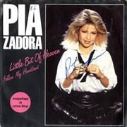 Click here for more info about 'Pia Zadora - Little Bit Of Heaven - Red Vinyl - Autographed'