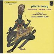 Pierre Henry Mouvement-Rythme-Etude France vinyl LP