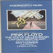 Pink Floyd Knebworth '75 + Newpaper Cutting UK tour programme