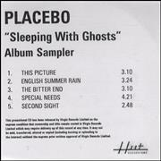 Click here for more info about 'Placebo - Album Sampler'