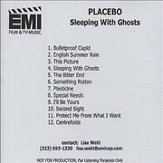 Click here for more info about 'Placebo - Sleeping With Ghosts'